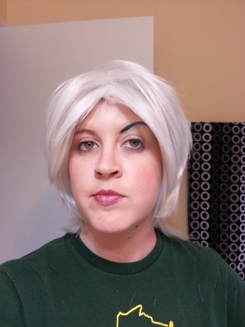 My wig I got in for my Andorian costume...and insane make up
