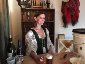 Tammy manning the bar