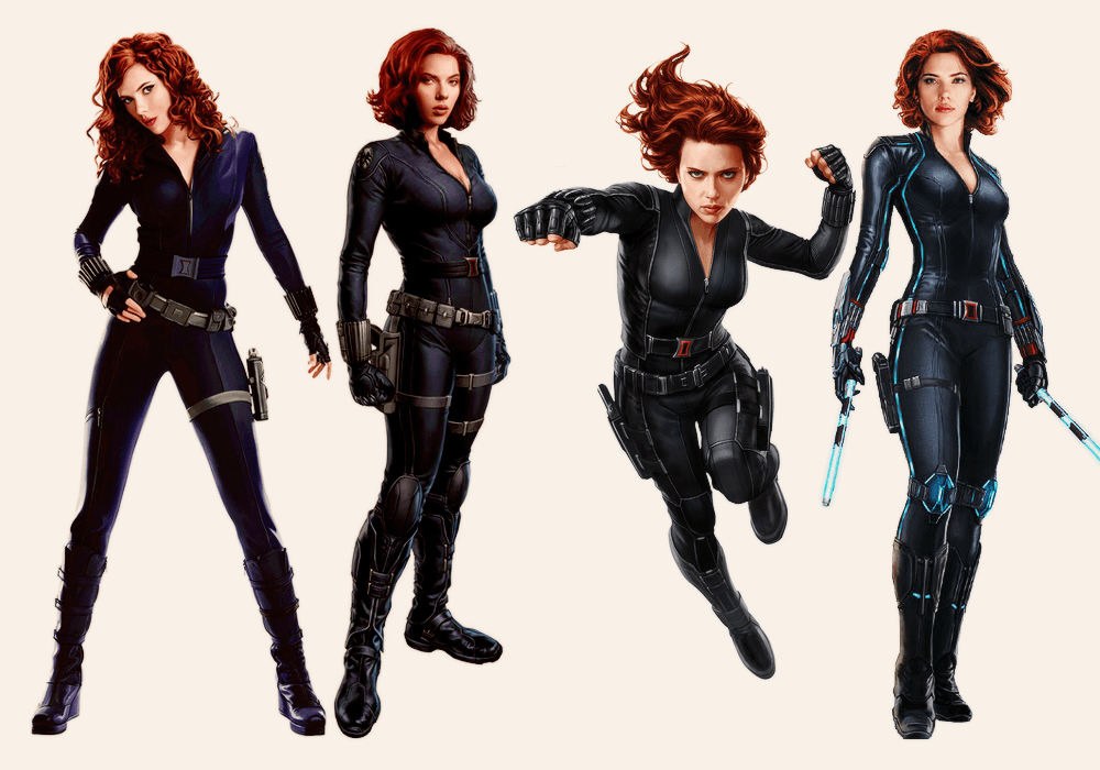 Black Widow costume from all current movies