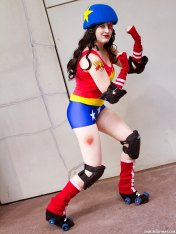 A to Z Cosplay as Wonder Woman Roller Girl