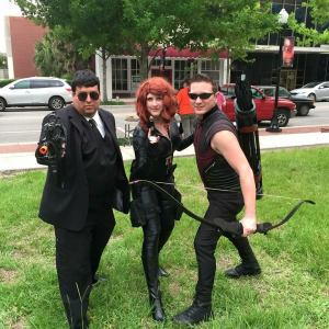 Avengers on the Lawn in Bartow with A to Z Cosplay