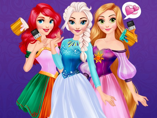 Princesses Rainbow Dresses