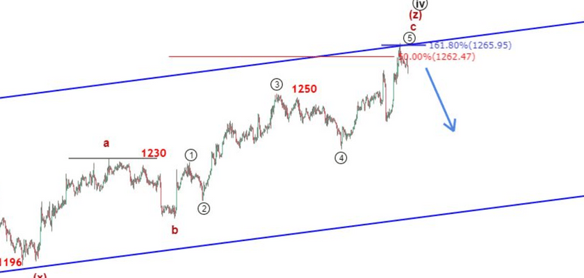 Gold Elliott Wave Analysis: Is Price at the Brink of a Big Fall?