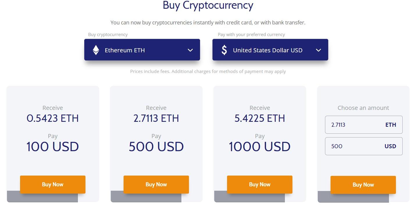 Buy Ethereum with Debit Card