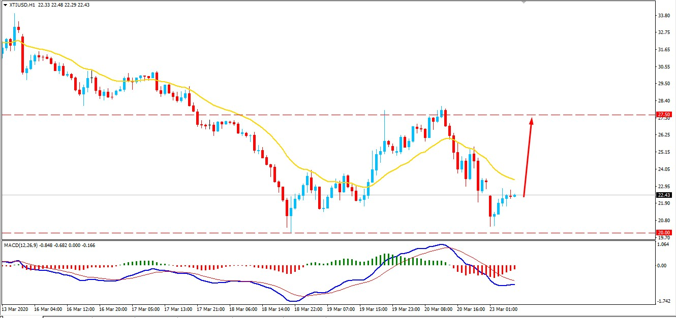 Oil Price Maintain Above the Key Support $20 - Will Bulls Strike Higher?