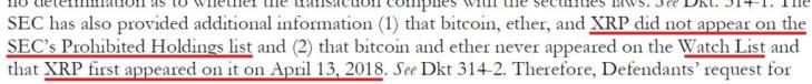 SEC Ripple Lawsuit