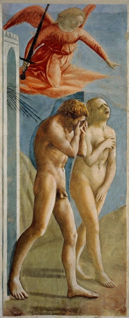 Expulsion from the Garden of Eden Fresco by Masaccio www.atozmomm.com