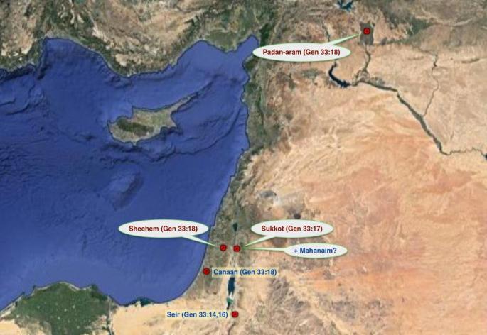map of mahanaim www.atozmomm.com bsf genesis bible study