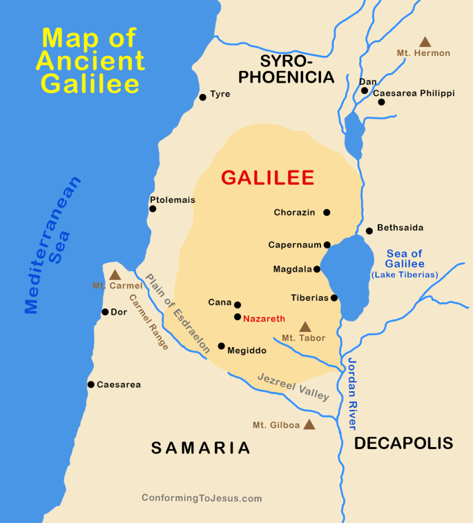 map of capernaum where jesus lived www.atozmomm.com bsf matthew lesson 9