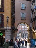 A glimpse through to the Plaza Mayor