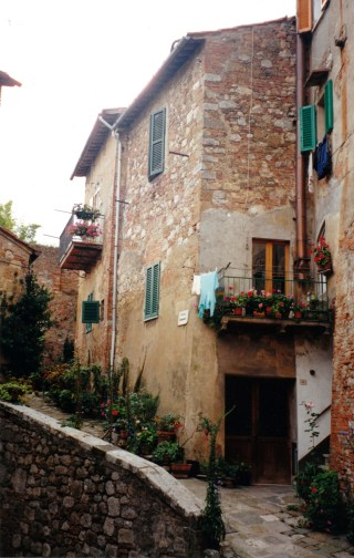 The hill-towns (here Montepulciano) are highly photogenic.