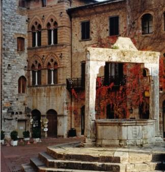 The square in San Gimignano
