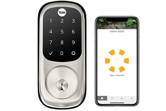 Schlage BE489WB CAM 619 Encode Deadbolt Smart Keypad door Lock for bedroom