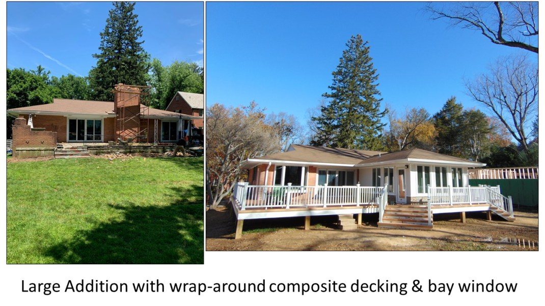 Large Addition with Wrap-Around Composite Decking and Bay Window by A To Z Turnover Services