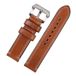 eeb5d2c652ac Replacement Light Brown Hand Stitched Watch Strap to Fit Panerai ...
