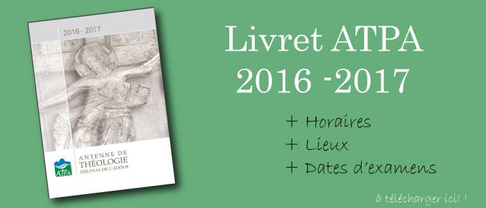 atpa programme 2016 20167 dax bayonen horaire conférence jésus catholique chrétien religion infos dates