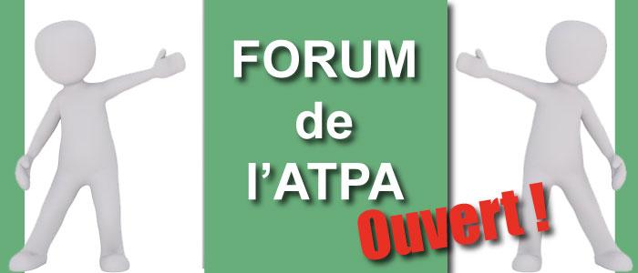 Forum de l'ATPA : mode d'emploi