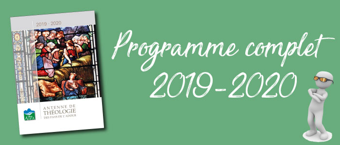 Le livret avec le programme complet des cours 2019-2020 est disponible !