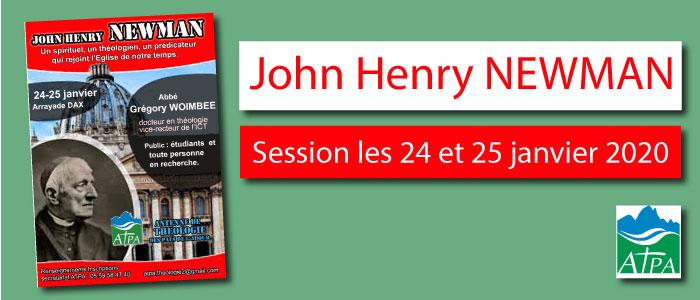 John Henry Newman – Session les 24 et 25 janvier 2020