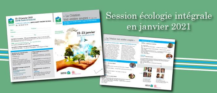 Session écologie intégrale en janvier 2021 – Inscription ouverte