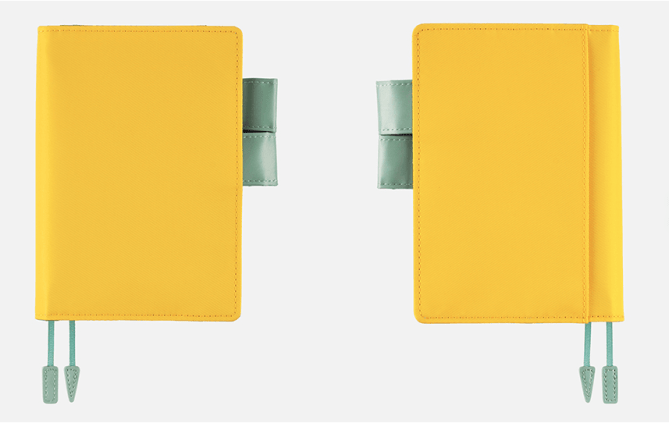 Hobonichi Techo 2017 Pineapple Yellow Cover - Front and Back