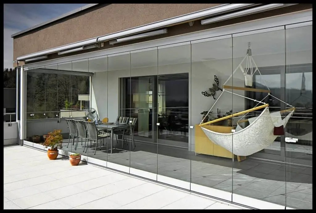 mur de verre vitrage pour balcon et