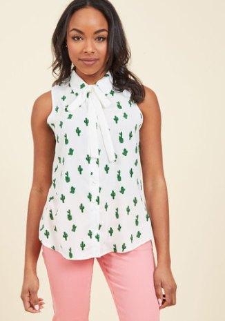 cactus printed top