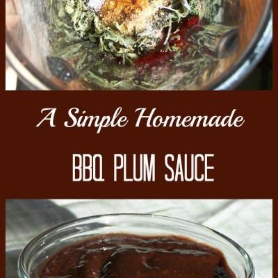 Homemade BBQ Plum Sauce