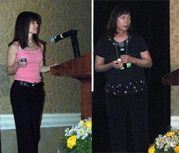 Debra Caruso (left) and Vicki Talbott