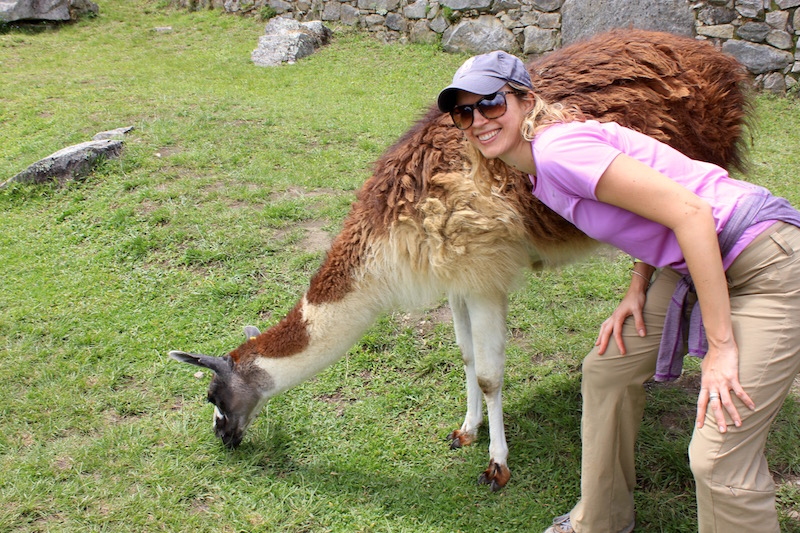 Brianne Miers and llama