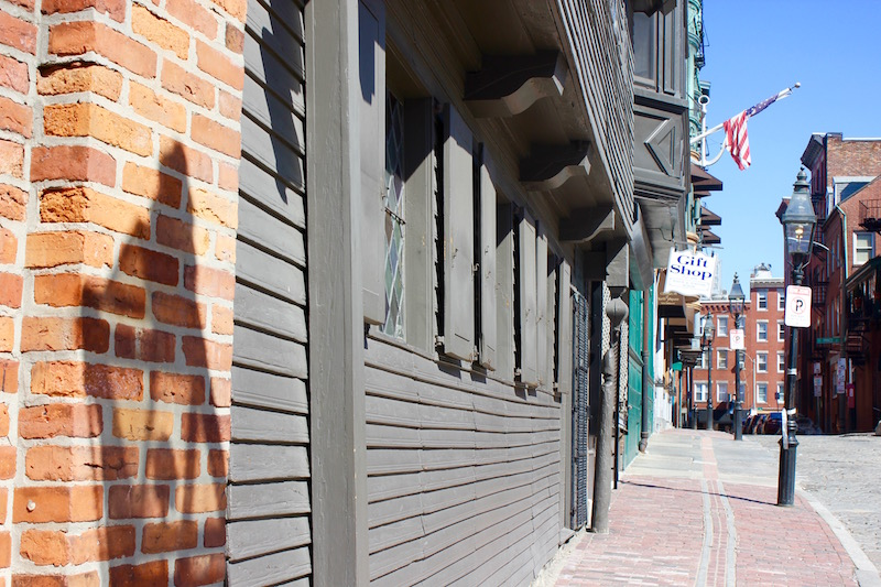 Paul Revere House in the North End of Boston