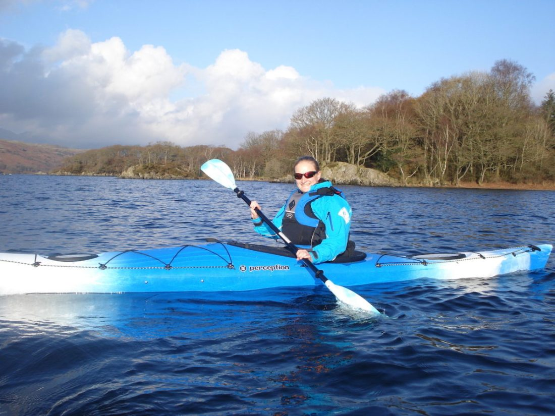 Heather kayaking