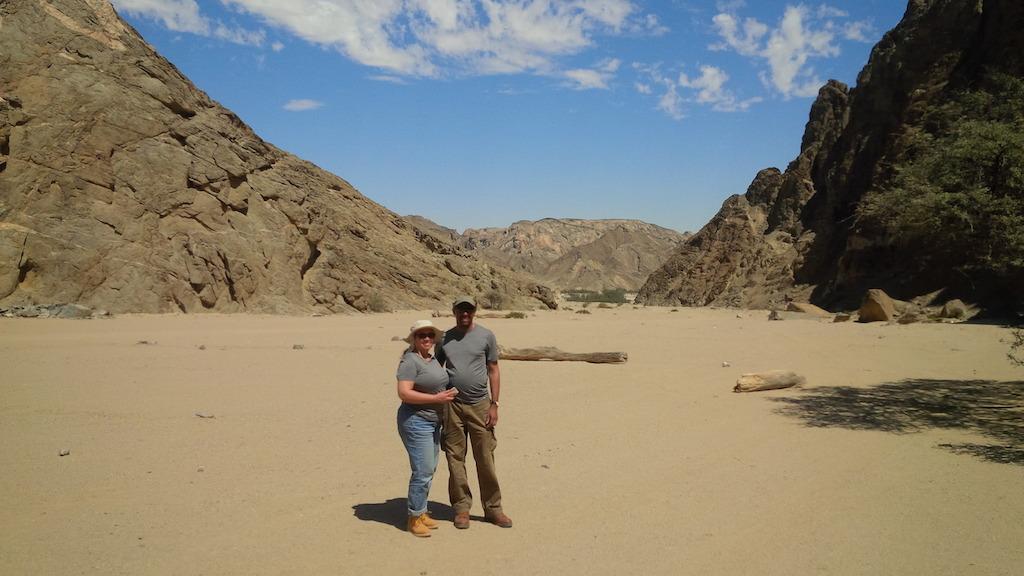 Ian and Tonya in Namibia