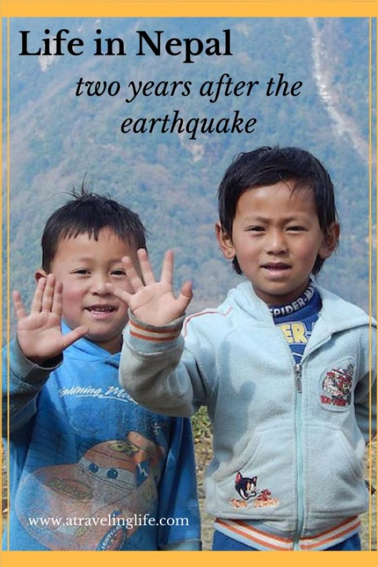 two children in the mountains of Nepal