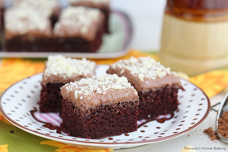 Frosted Chocolate Buttermilk Sheet Cake Recipe