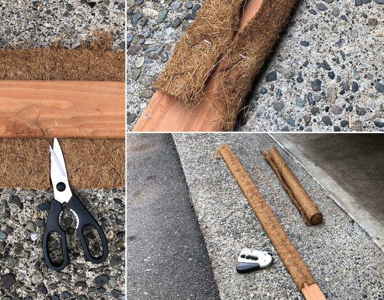 Coir cutting