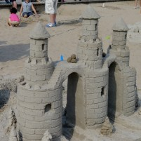 One of the few traditional sand castles in the competition