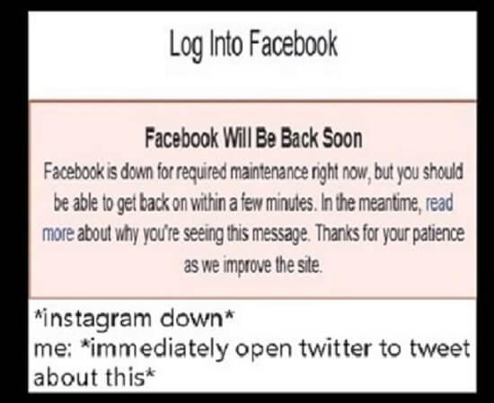 Facebook and Instagram Were Down
