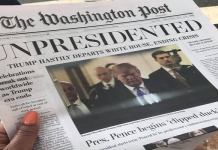Fake edition of The Washington Post
