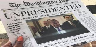 Fake edition of The Washington Post