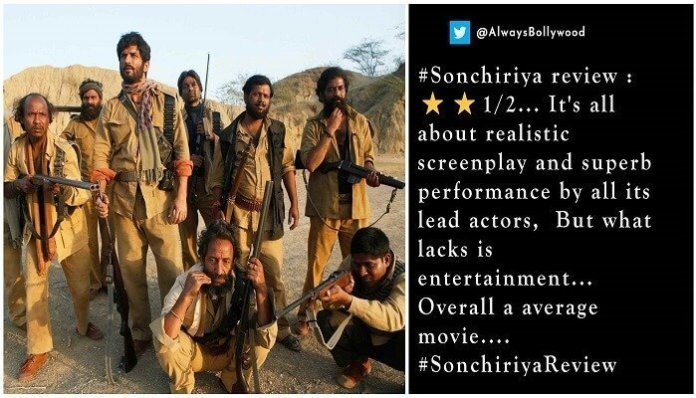 Twitter reviews Sonchiraiya