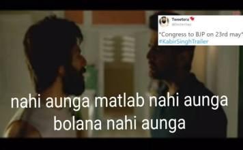 Kabir Singh Trailer Memes