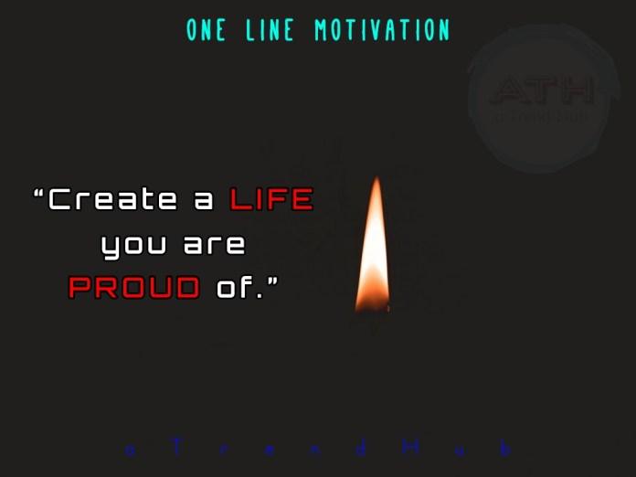 One Line Inspirational