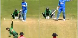 Ms Dhoni setting field while batting