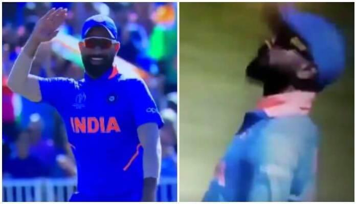 Shami And Kohli Attempting Cottrell's Salute Celebration
