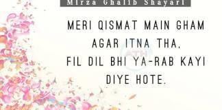 Mirza Ghalib Amazing Shayari