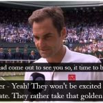 Roger Federer Interview After Wimbledon Final Loss