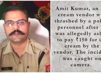 Police trash Ice-Cream vendor