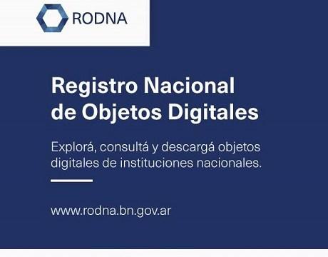 Sugerido del mes: RODNA (Registro Nacional de Objetos Digitales de la Biblioteca Nacional Mariano Moreno)