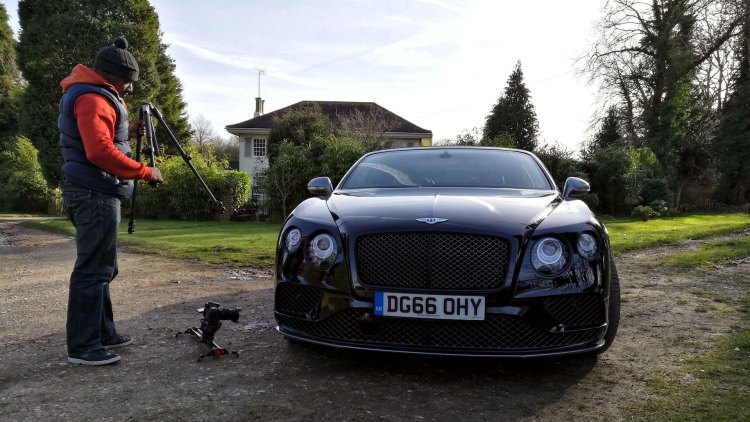 Filming a car: The Bentley Continental GT Speed